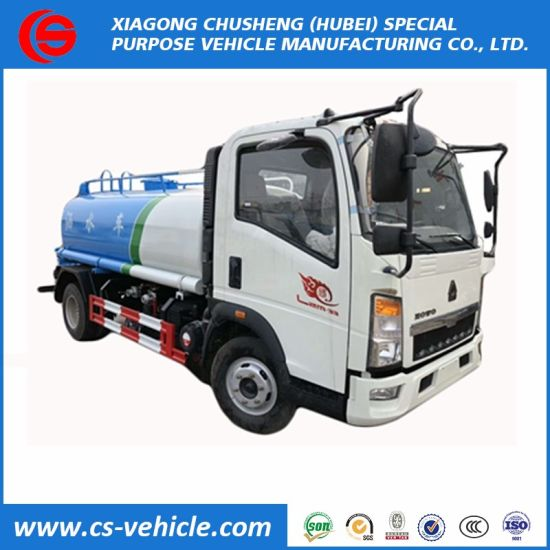 HOWO 4X2 Mini Water Tank Transport Truck 8000 Liter Sprinkling Water Tanker Truck Price pictures & photos