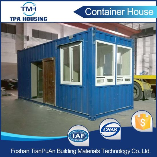 China Prefabricated Modern Design Steel 20ft Container Home In Hong