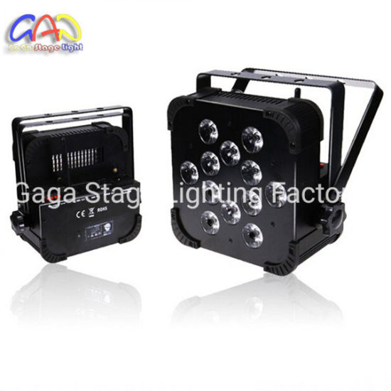 Battery 10W Flat PAR White Wireless LED Stage Lights pictures & photos