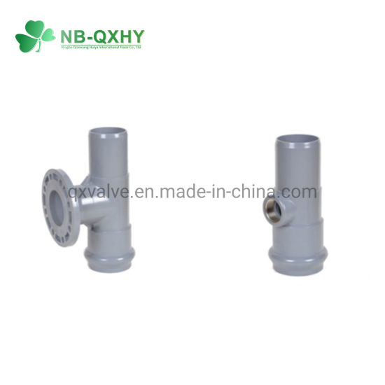 China PVC One Faucet One Flange and One Insert Regular Tees