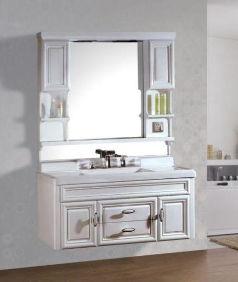 China New Wall Mounted Pvc Bathroom Vanity Designs With Mirror China Pvc Bathroom Vanity Pvc Bathroom Cabinet
