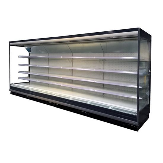 Self Service Supermarket Deluxe Vertical Refrigerator Self-Service Fruit and Vegetable Display Chiller Cabinet
