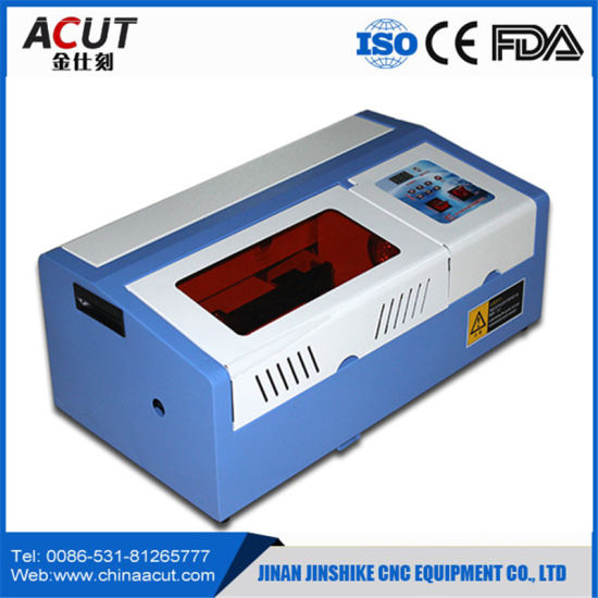 Hot Sale CO2 40W Mini Rubber Stamp Laser Engraving Machine pictures & photos