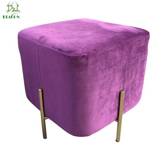 Outstanding Off White Pu Foot Square Ottoman For Living Room Furniture Dailytribune Chair Design For Home Dailytribuneorg