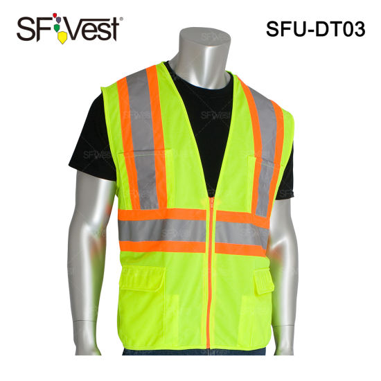 High Quality High Visibility Reflective Safety Vest Construction Vest