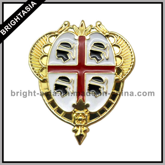 China Stamping Enamel Lapel Pin with Gold Plating (BYH-10702