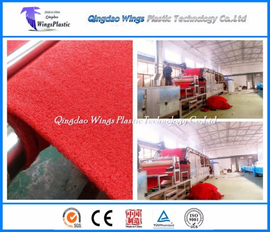 PVC Cushion Carpet Machine / PVC Floor Mat Manufacturing Plant in China pictures & photos