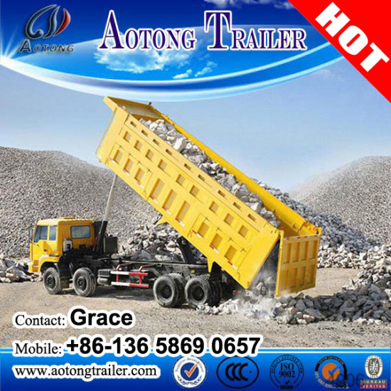 Side or End Dump Truck Trailer, Tipping Trailer, Tipper Trailer, Tractor Hydraulic Cylinder Dump Trailer, Hydraulic Dump Trailer for Sale pictures & photos