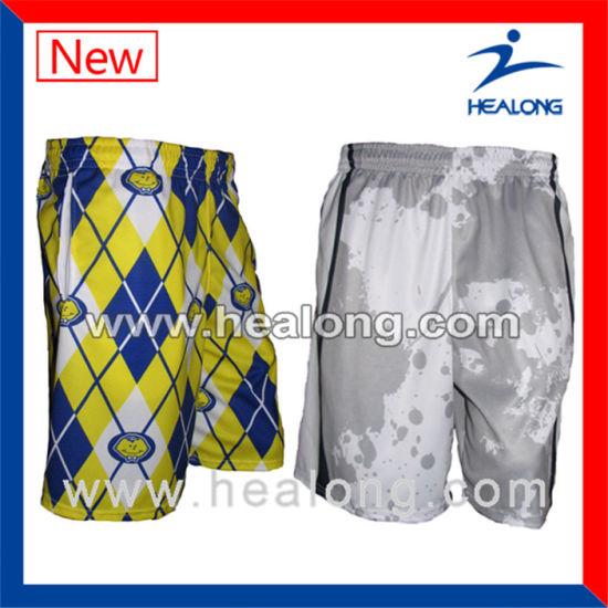 Healogn Fashion Logo Apparel Gear League Match Sublimation Men's Lacrosse Shorts