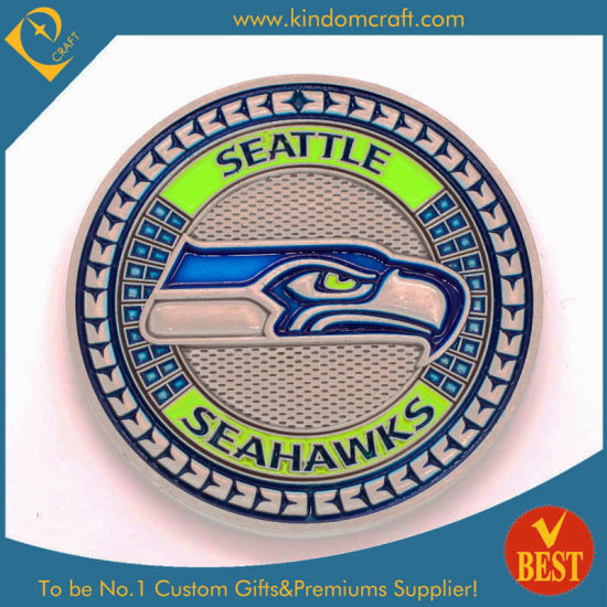 Custom Wholesale Metal Souvenir Collecting Coin with Enamel Nickle Plating