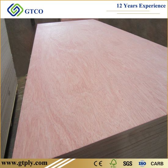 Big Size 1830*2440mm Poplar Core E1 Grade Bintangor Plywood with Packing Board.
