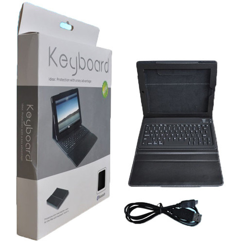Fashion Bluetooth Keyboard Leather Case for iPad 2&3&4 pictures & photos