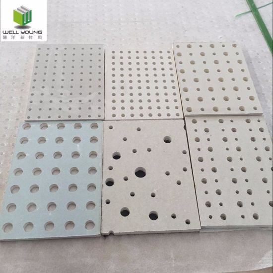 China perforated paper faced gypsum board for ceiling wall