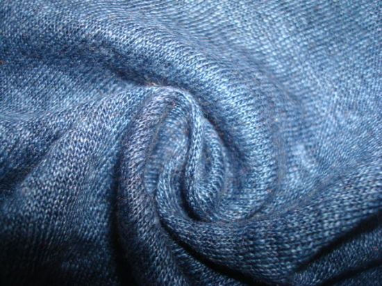 Pure Linen Fiber Dyed Single Jersey Fabric pictures & photos