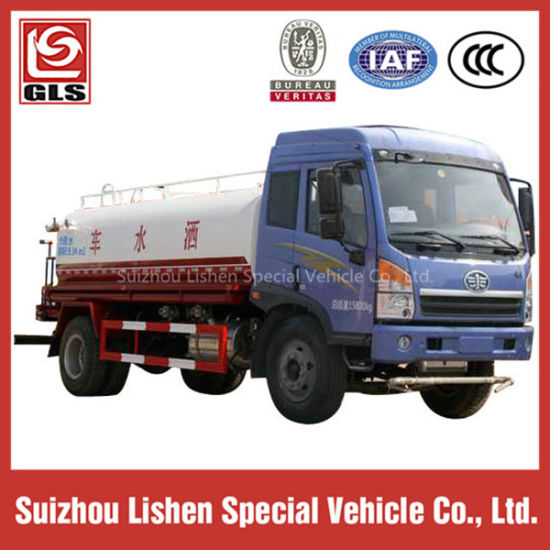 6X4 FAW 15000L Water Tank Truck pictures & photos