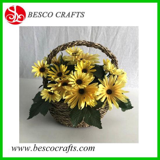 Artificial Gerbera Flower Bonsai in Portable Basket