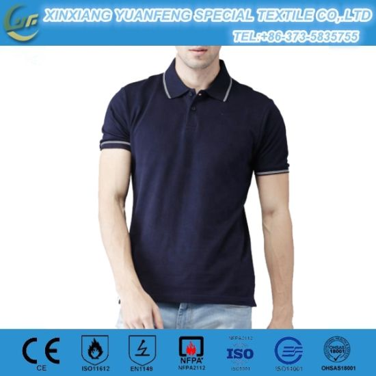 Hi Vis 100% Cotton Protective T-Shirts Work Wear Working Clothes Polo Shirts with Short Sleeve Safety Workwear pictures & photos