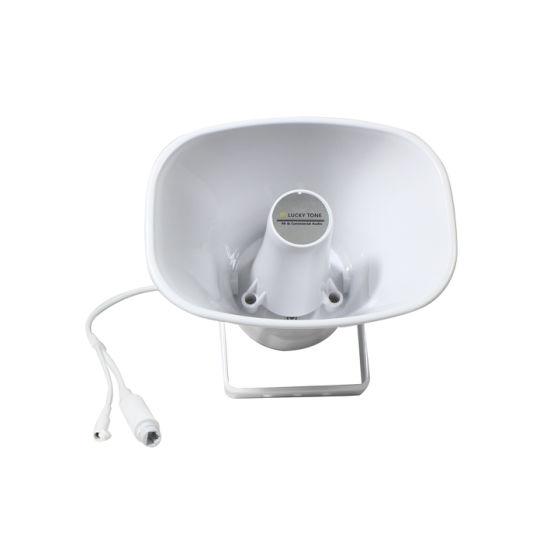 TCP/IP Network 15W Poe Active Horn Speaker Waterproof Outdoor Use