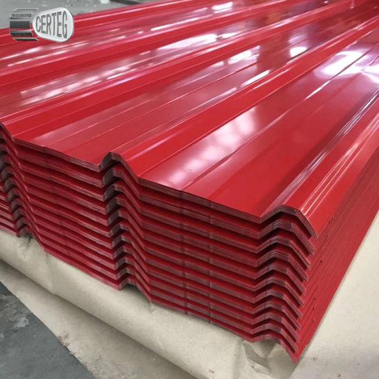 PPGL Color Coated Galvalume AZ120 Corrugated Profile Roofing Sheet