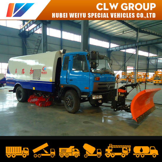 Dongfeng 8m3 9m3 Vacuum Road Sweeper Truck with Snow Shovel