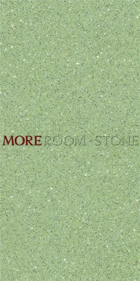 600x1200 Glazed Green Terrazzo Porcelain Tile For Flooring And Wall