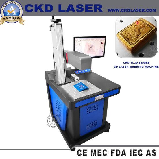 3D Fiber Laser Marking Machine for Metal Carving Nonmetal Engraving