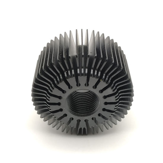 Black Anodized Aluminum Cooling Fin Radiator Heat Sink with CNC