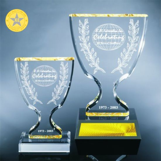 Wholesale Custom Fashion Glass Plastic Blank Miami Spring Winter Tournament Award Trophy pictures & photos