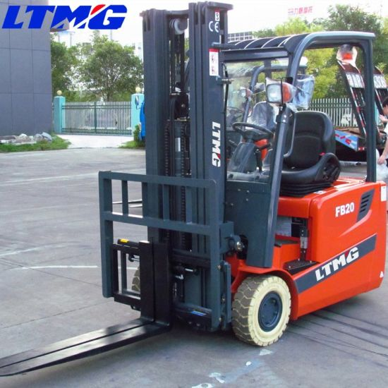 Ltmg 1.5 Ton 2 Ton 3-Wheel AC Power Electric Forklift with Solid Tire