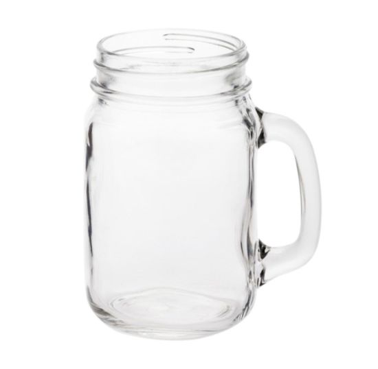 Mason Jar Drinking Glass with Handle pictures & photos