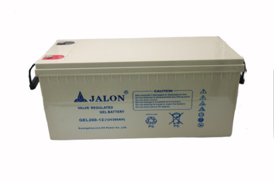 Jalon 12V 200ah VRLA Rechargeable Storage Lead Acid Deep Cycle Gel AGM UPS Solar Battery