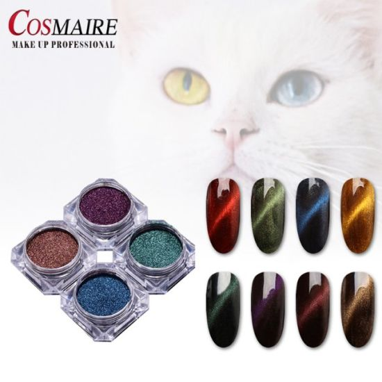 Professional High Quality 3D Cat Eye Powder Magnetic Nail Powder pictures & photos