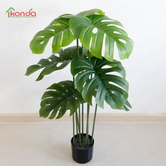 Variegata Turtle Leaf Deliciosa Tree Artificial Monstera Plant
