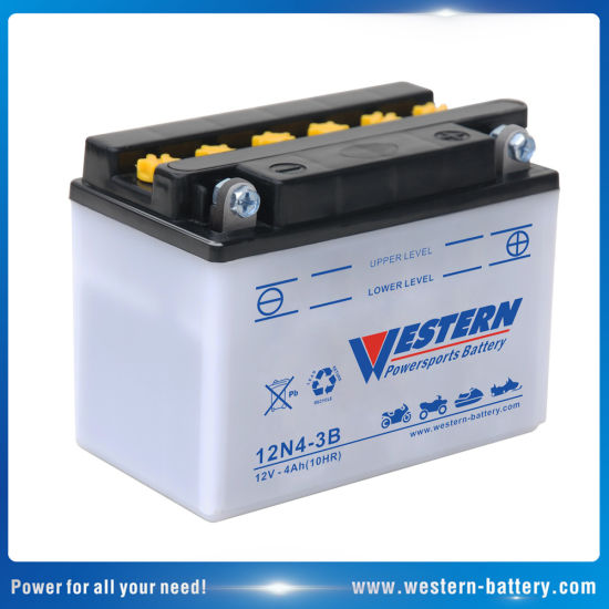 12n4-3b Dry Charged Motor Battery Motorcycle Battery 12V 4ah