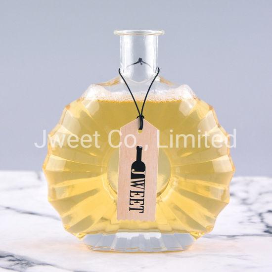 Fantastic Premium Luxury Design Irregular Shape Brandy Glass Bottle