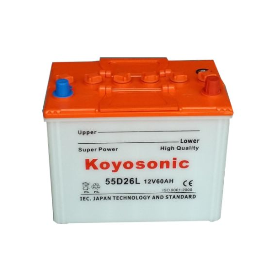 Auto Automotive Vehicles Car Storage 12V Dry Charged Car Battery 55D23r 12V 60ah Dry Cell Battery Solar Battery
