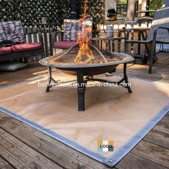 China Fire Pit Mat Round Grill Mat For Ground Patio Deck Lawn Outdoor Or Campsite Protection Ember Mat Pad China Ember Mat Pad And Fire Pit Mat Price