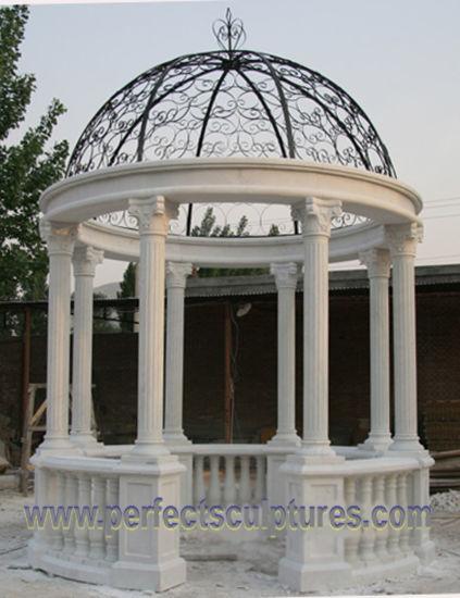 Stone Marble Garden Gazebo for Outdoor Garden Ornament (GR065)