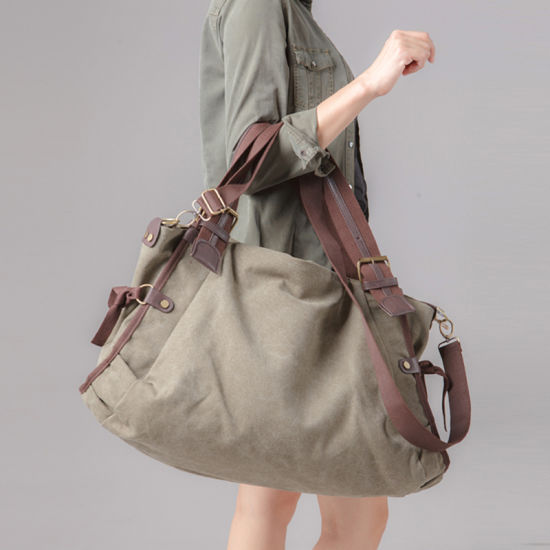 Wholesale Customized Guangzhou Factory Canvas Sling Shoulder Travel Bag