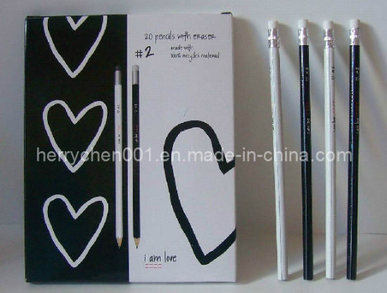 Full Color Printing Hb Recycled Paper Pencil (SKY-802)