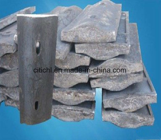 Mn Alloy Steel Cement Mill Spares Liners Ball Mill Liner Parts