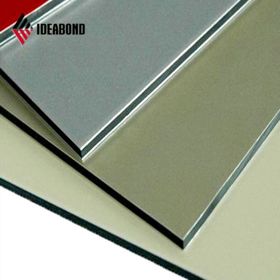 PVDF Coating Exterior Wall Decoration Gold Metallic Aluminum Composite Panel pictures & photos