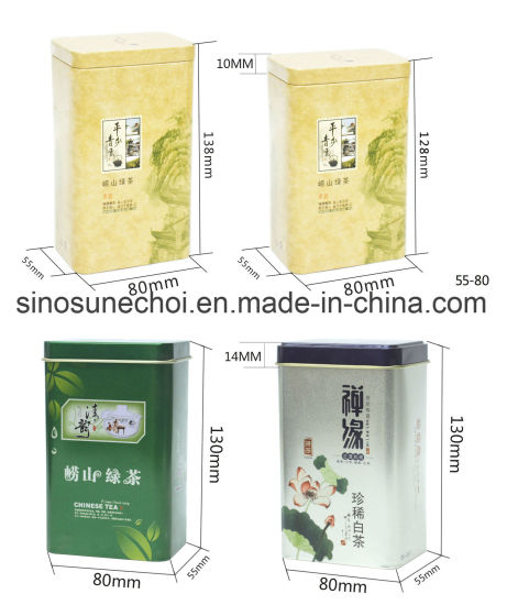 Customized Tea Packing Gift Box Rectangle Tin Box pictures & photos