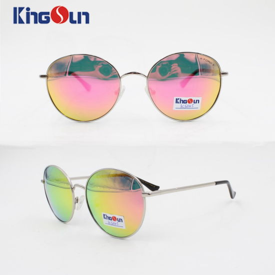 b29628aa1f0 Round Shape Unisex′s Metal Sunglasses with Mono Block Temple Ks1105  pictures   photos