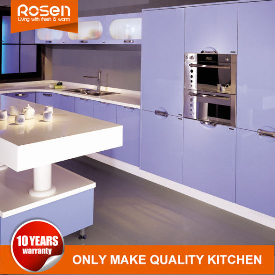 Purple Design Pvc Kitchen Cabinets Furniture Online