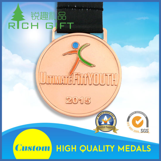 Design Custom Fine Zinc Alloy Gold Award Metal Sport Medal pictures & photos
