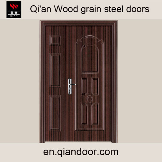 Black Walnut Veneer Steel Fire Door pictures & photos