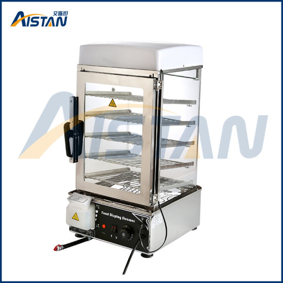 500c 5 Deck Electric Arc Glass Commerical Chinese Bun Steamer of ...