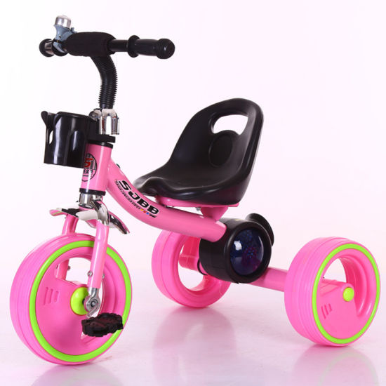 Hot Sale Chinese Factory Baby Kid Child Tricycle 3 Wheel with Lights and Music