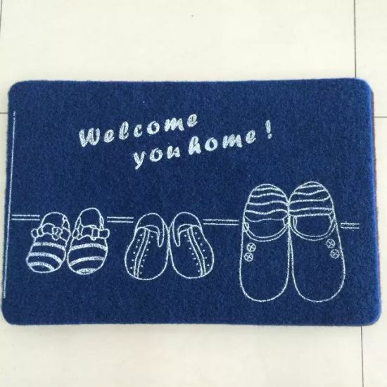 Absorbent Water and Antibiosis Coarse Fiber Soft Velour Printed Mat by Used in Kitchen, Bedroom, Indoor or Outdoor